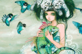 Princess Of Animals Background for Android, iPhone and iPad