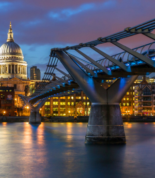 Millennium Bridge, St Paul's Cathedral Picture for 240x320
