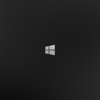 Kostenloses Windows 8 Black Logo Wallpaper für 2048x2048
