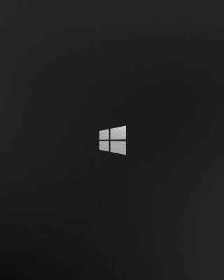 Windows 8 Black Logo Wallpaper for 480x800