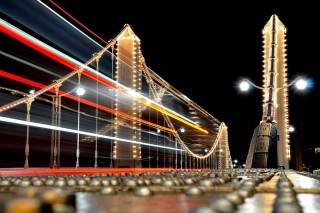 Night City Photo with Long Exposure - Fondos de pantalla gratis para Widescreen Desktop PC 1440x900