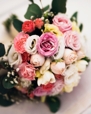Wedding Bouquet Background for Nokia Asha 310
