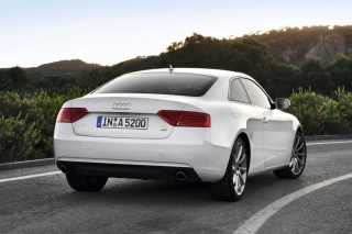 Audi A5 Coupe Rear View Background for Android, iPhone and iPad
