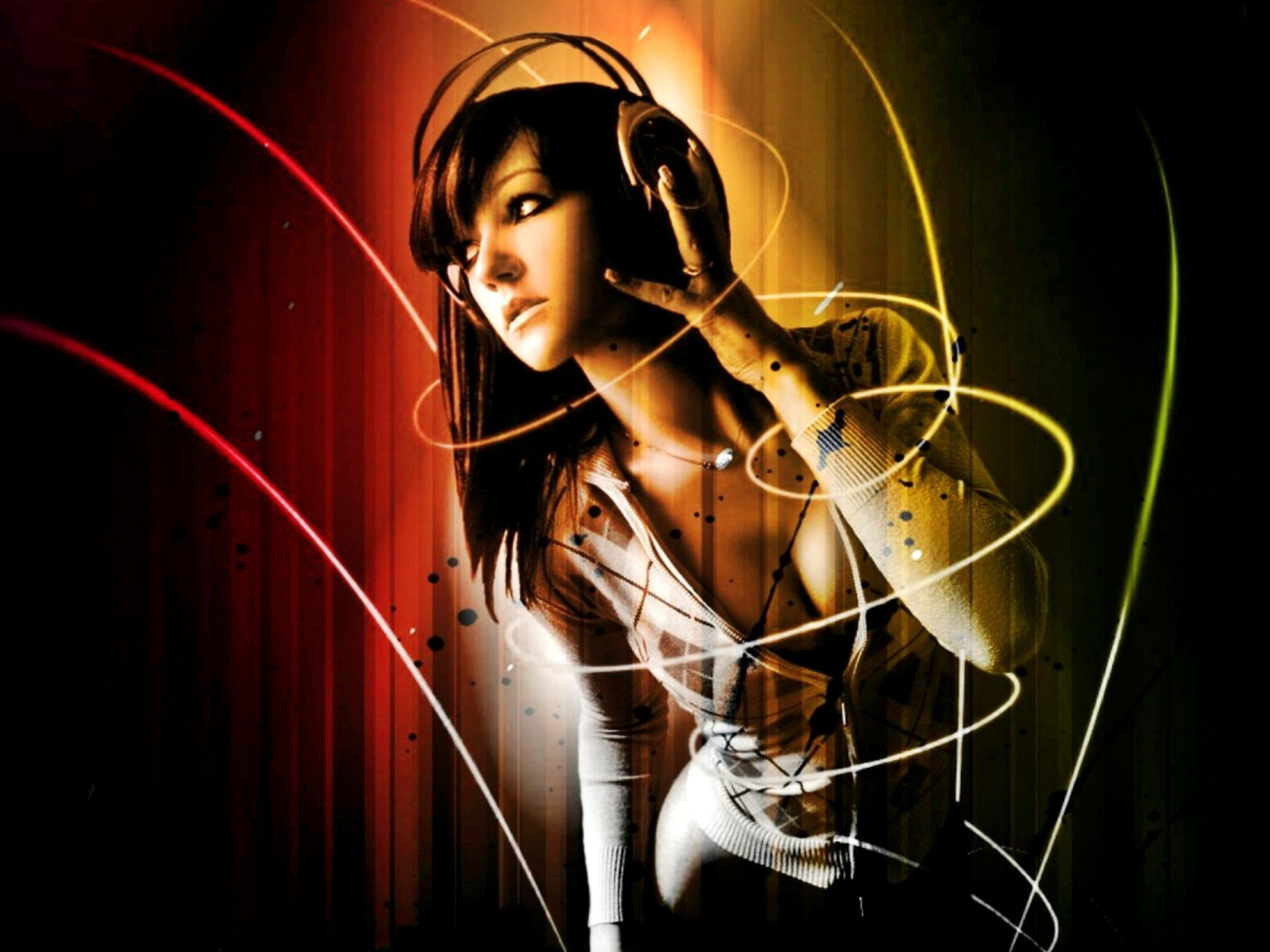 Screenshot №1 pro téma Music Girl 1400x1050