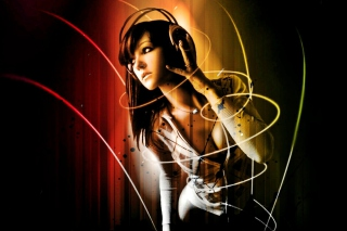 Music Girl Picture for Android, iPhone and iPad