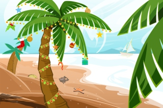 Tropical Christmas Background for Android, iPhone and iPad
