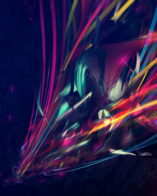 3D Colorful Abstract Background for HTC Titan
