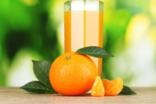 Healthy Orange Juice Wallpaper for Android, iPhone and iPad