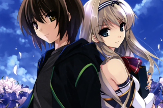 Kurehito Misaki Anime Couple Wallpaper for Android, iPhone and iPad