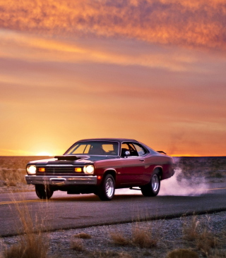 Plymouth Duster Background for 240x400