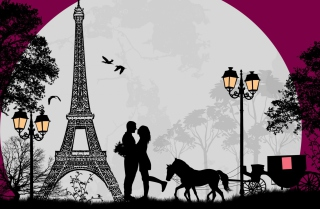Paris City Of Love sfondi gratuiti per cellulari Android, iPhone, iPad e desktop