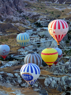 Screenshot №1 pro téma Hot air ballooning Cappadocia 240x320
