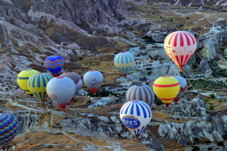 Hot air ballooning Cappadocia papel de parede para celular para Widescreen Desktop PC 1600x900