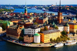 Colorful Stockholm Wallpaper for Android, iPhone and iPad