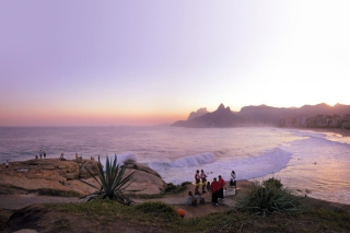 Free Rio Sunset Picture for Android, iPhone and iPad
