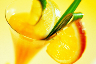 Free Cocktail with Orange Slice Picture for 1600x1200