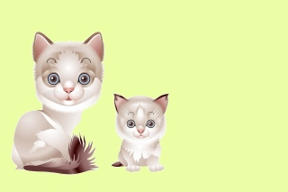Hipster Cat Clip Art Wallpaper for Android, iPhone and iPad