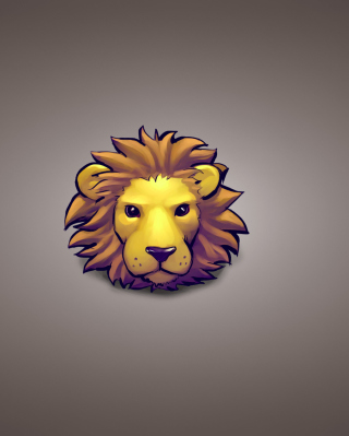 Lion Muzzle Illustration Wallpaper for Nokia C2-05