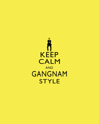 Keep Calm And Gangnam Style papel de parede para celular para iPhone 6