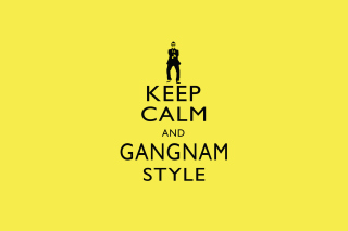 Keep Calm And Gangnam Style Background for Android, iPhone and iPad