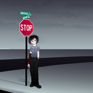 Stop Sign and Crossroad sfondi gratuiti per iPad mini