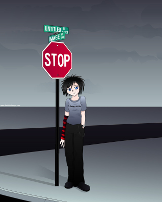 Stop Sign and Crossroad Wallpaper for HTC Titan