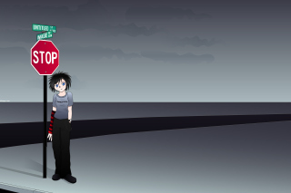 Stop Sign and Crossroad Wallpaper for Widescreen Desktop PC 1280x800