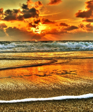 Beach Hdr Wallpaper for Nokia C1-01