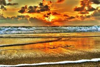 Beach Hdr Wallpaper for Android, iPhone and iPad