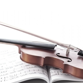 Violin and sheet music sfondi gratuiti per 1024x1024