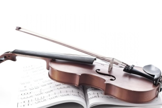 Violin and sheet music Background for Desktop 1280x720 HDTV