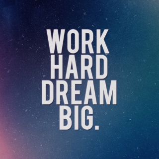 Work Hard Dream Big Picture for iPad mini 2