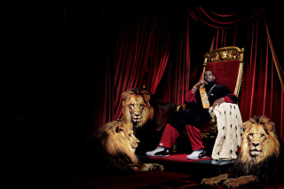 Lebron James With Lions - Fondos de pantalla gratis