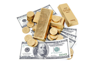Money And Gold Wallpaper for Android, iPhone and iPad