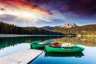 Mountain Lake HDR Wallpaper for Android, iPhone and iPad