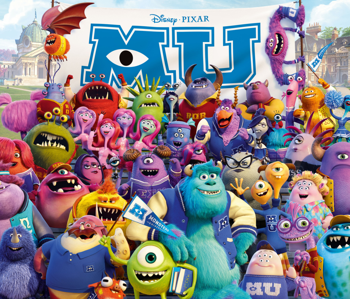 Fondo de pantalla Monsters University Pixar 1200x1024