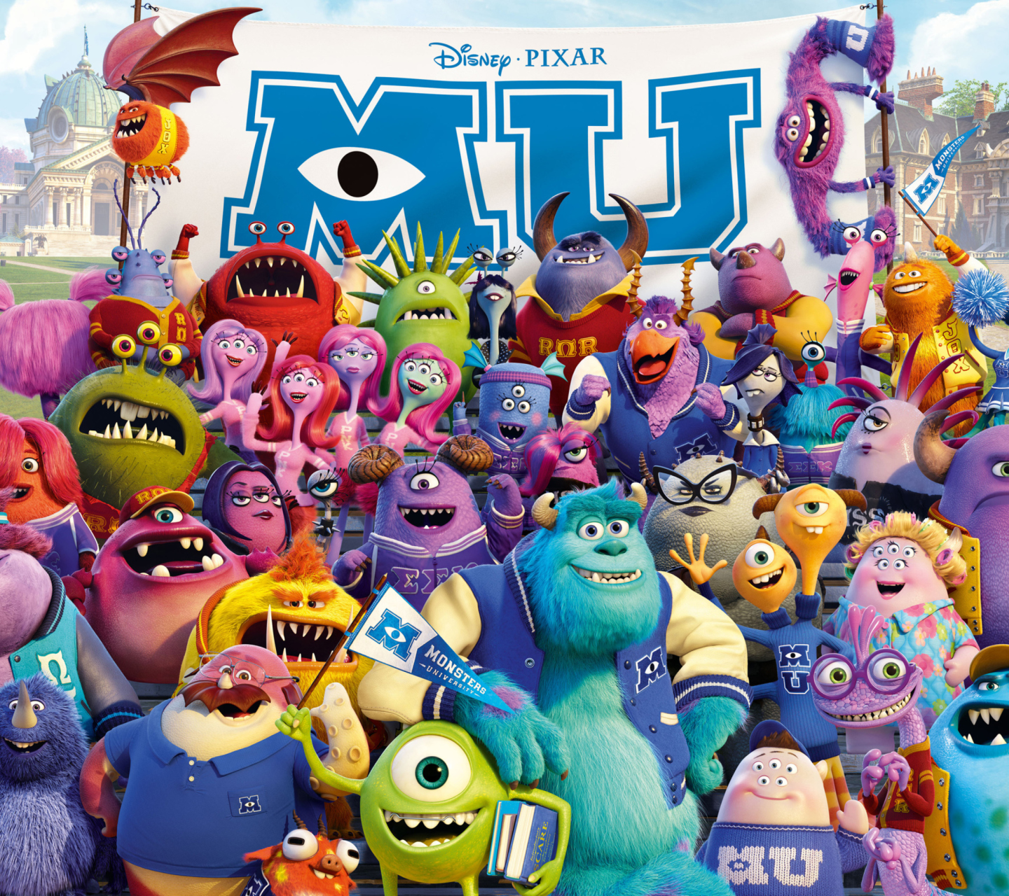 Screenshot №1 pro téma Monsters University Pixar 1440x1280