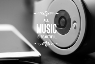 Free Music Is Beautiful Picture for Android, iPhone and iPad