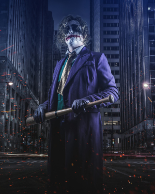 Free Joker Cosplay Picture for iPhone 5