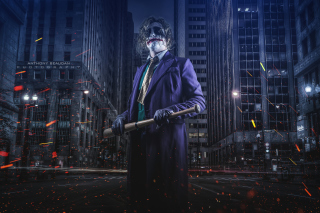 Joker Cosplay Wallpaper for HTC Wildfire