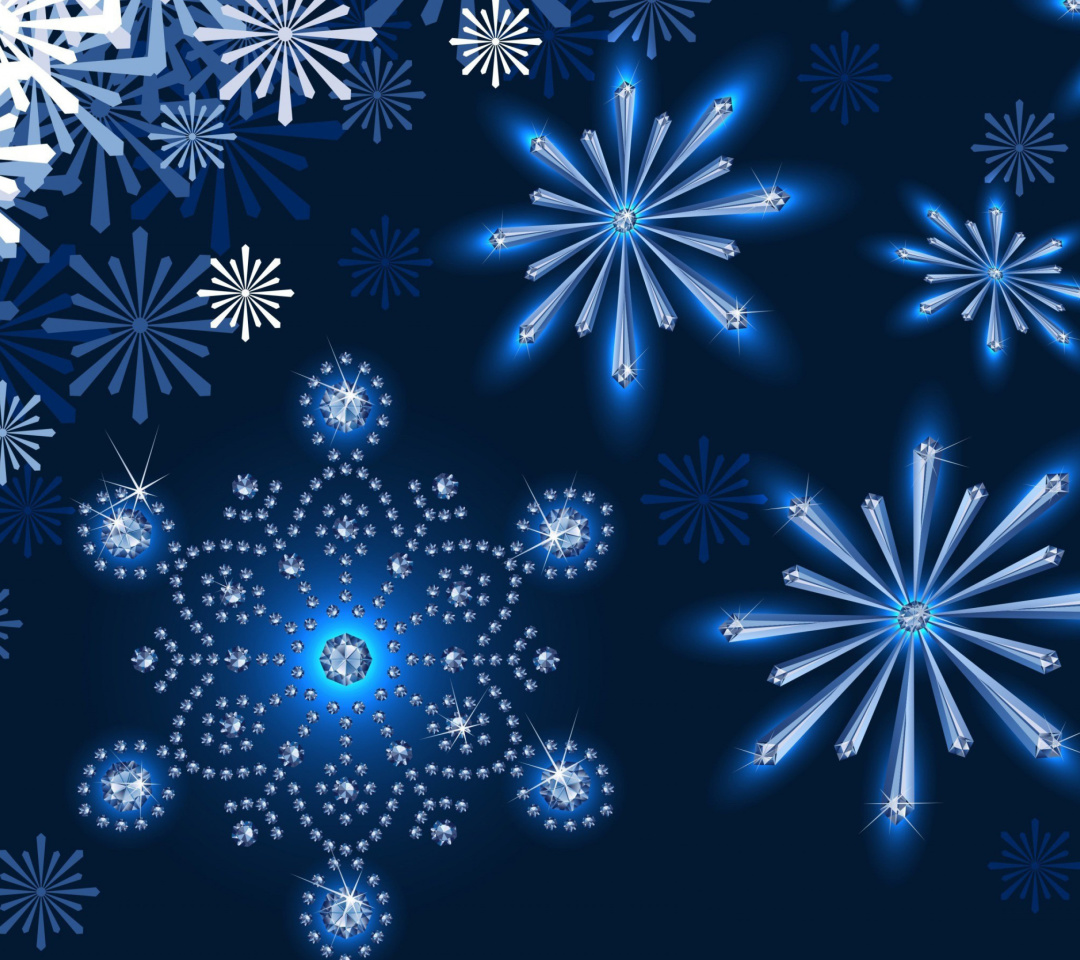 Snowflakes Ornament wallpaper 1080x960