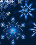 Snowflakes Ornament wallpaper 128x160