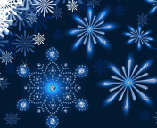 Snowflakes Ornament wallpaper 176x144