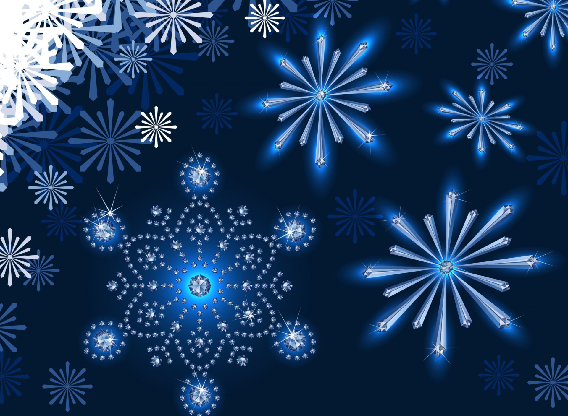 Snowflakes Ornament wallpaper 1920x1408