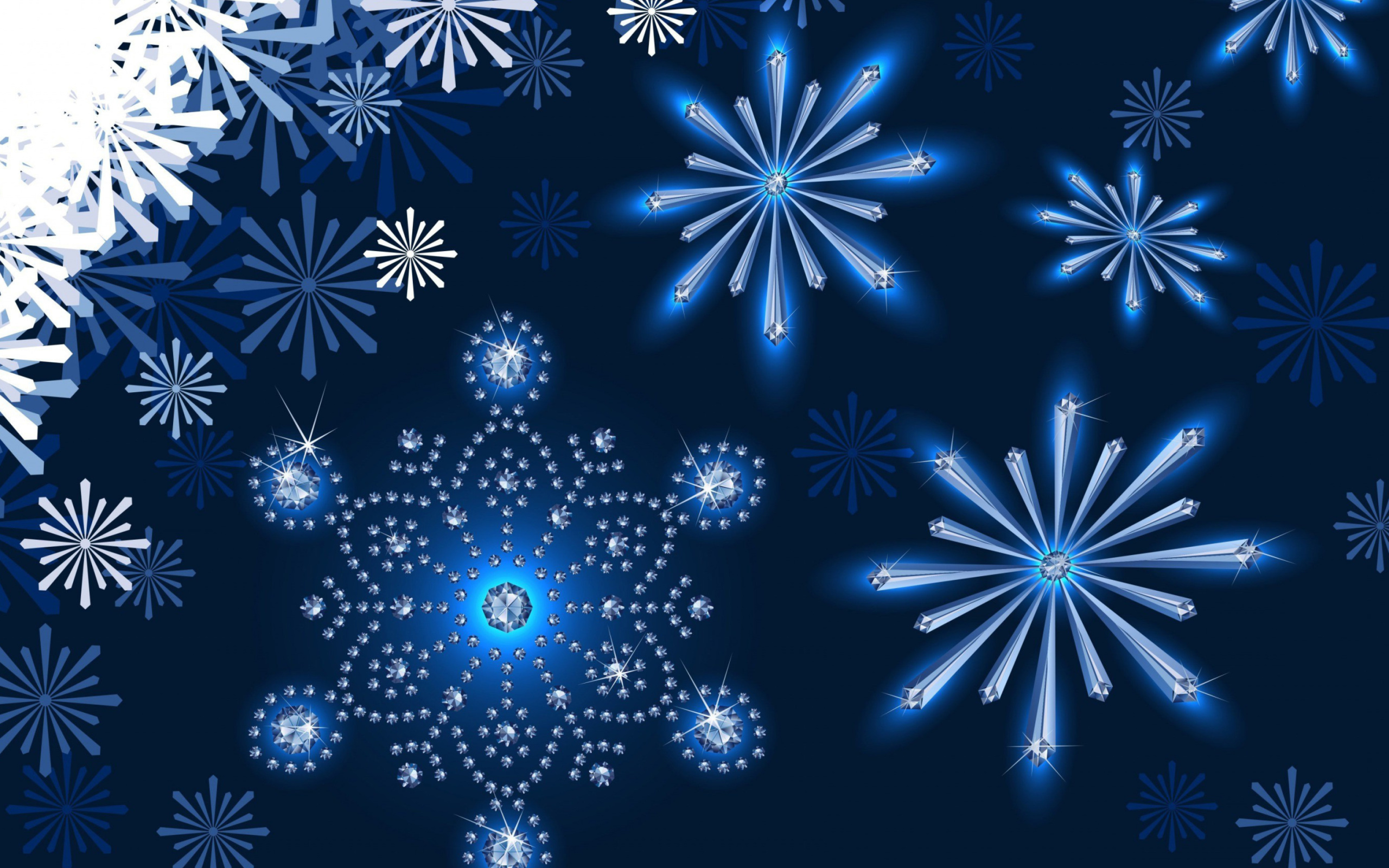 Snowflakes Ornament wallpaper 2560x1600