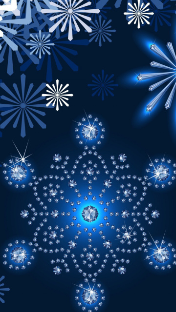 Snowflakes Ornament wallpaper 360x640