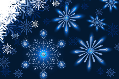 Snowflakes Ornament wallpaper 480x320