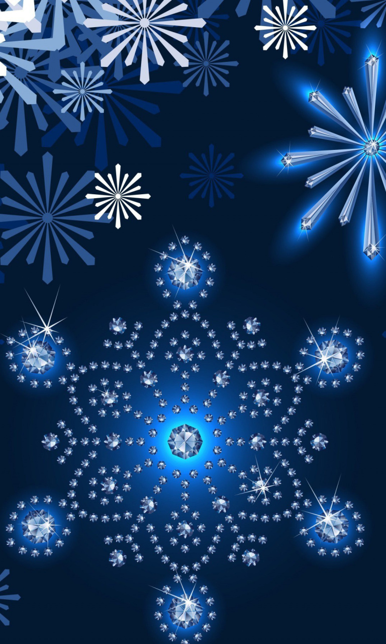 Snowflakes Ornament wallpaper 768x1280