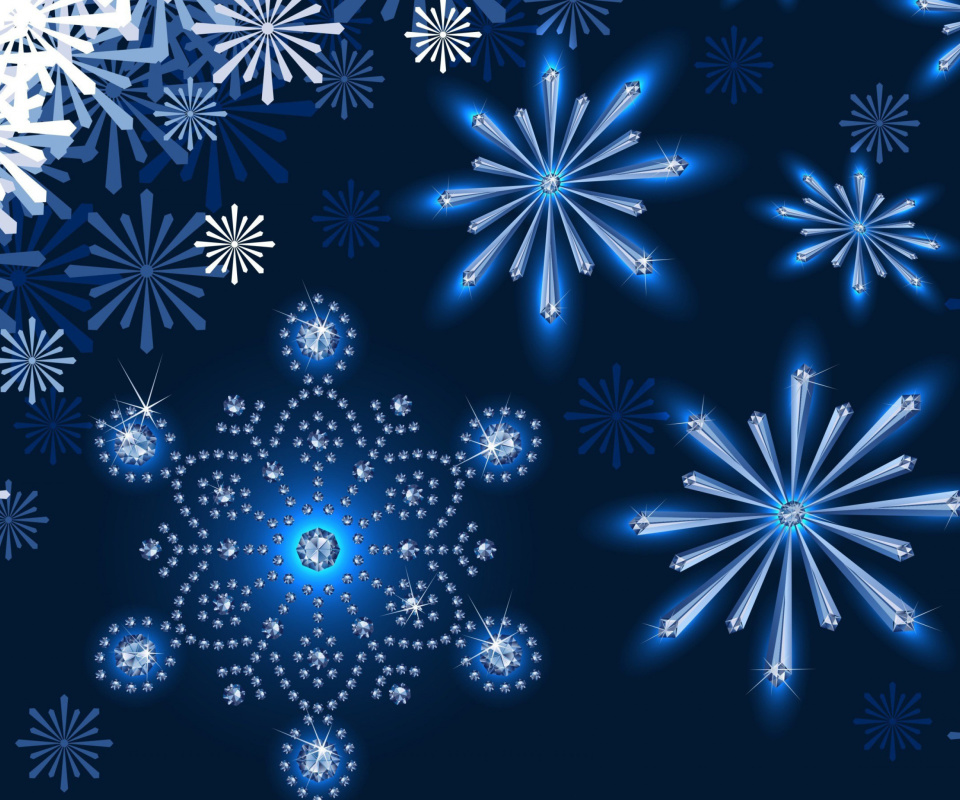 Snowflakes Ornament wallpaper 960x800