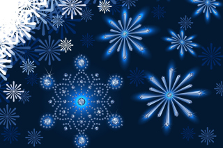Snowflakes Ornament papel de parede para celular para Widescreen Desktop PC 1600x900